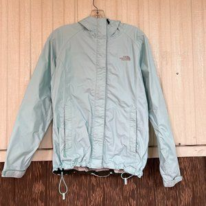 The North fcae venture raincoat pastel green rain jacket size S women's